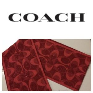 Coach Red Holiday Scarf, NWOT